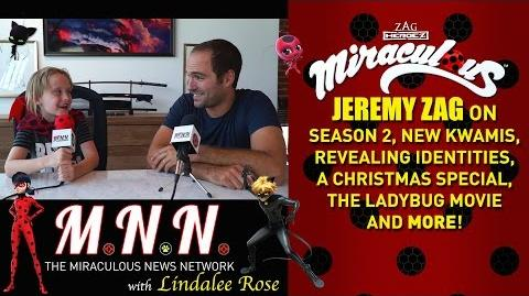 Lindalee & Jeremy Zag talk Miraculous Ladybug - (MNN) Ep.2