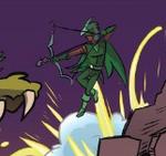 Unnamed supehero with Bow & Arrow