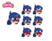 Ladybug Chibi Character Sheet
