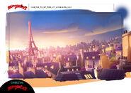 The Chase - Paris City Establishing model sheet