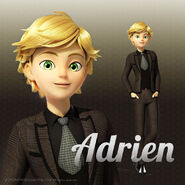 Adrien in a suit full body