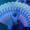 Peacock Miraculous' Hand fan Square