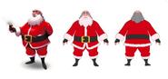 Santa Claus model sheet