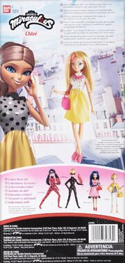 Chloe Fashion Doll spotted dress (back package)