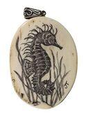 Scrimshaw Seahorse