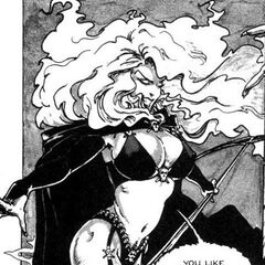 Lady Death on her first appearance in <b><a href=