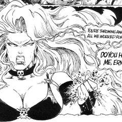 Lady Death furious!