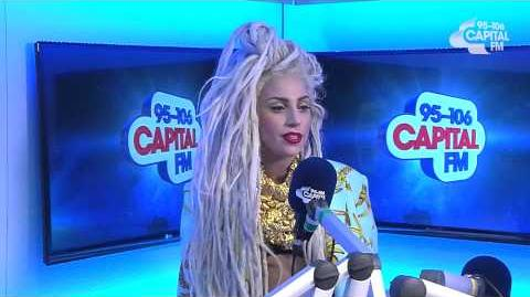 Lady Gaga Backstage At The Jingle Bell Ball 2013 - Capital FM Radio Interview