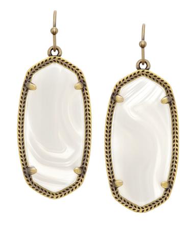 File:Kendra Scott - ''Elle'' earrings brass white banded agate.png