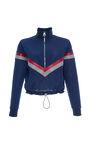 Versace - Multi half zip chevron sweatshirt