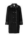 Versace - Double-breasted wool alpaca fur military coat