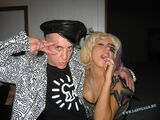 4-1-09 Jeremy Scott with Lady Gaga at Birthday Bash