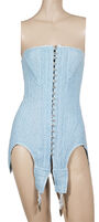 Rosamosario - Powder blue wool corset