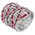 Bulgari - Serpenti, ruby and diamonds bracelet