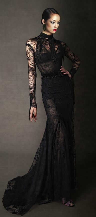 Image - Tom Ford Fall 2011 Lace Evening Dress.jpg | Gagapedia ...