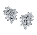 Harry Kotlar - Cluster diamond earrings