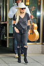 8-1-16 Leaving her apartment in NYC 001