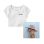 Joanne - White crop t-shirt