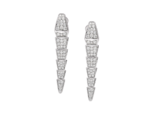 Bulgari - Serpenti earrings in 18 kt white gold with pavé diamonds