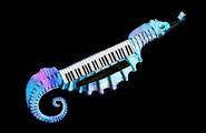 ArtRAVE sea horse keystar