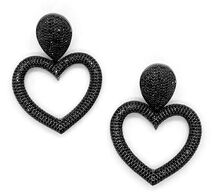 Kyle Chan - Diamond heart shaped earrings