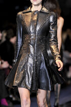 Versace Fall Winter 2012 Black trench coat