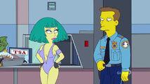 Lisa Goes Gaga Bathing Suit