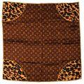 Louis Vuitton - Leopard print monogram scarf