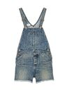 Saint Laurent - Short overalls in 90's medium washed blue denim