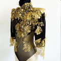 Alex Noble Black and Gold Bodysuit