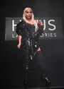 9-16-19 On stage at Haus Laboratories launch party at Barker Hangar in Santa Monica, USA 001