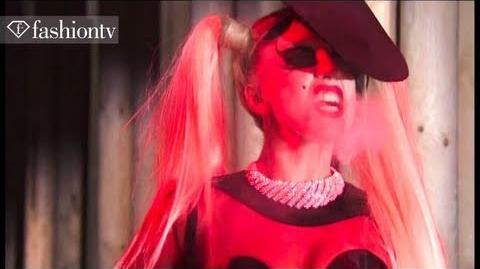 Lady Gaga, Runway Debut Backstage at Mugler Show, Fall 2011 Paris Fashion Week FashionTV