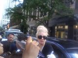 7-16-12 Signing Autographs Outside Hotel 001