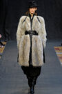 Hermès Fall Winter 2012 Faux Fur Embellished Leather Coat