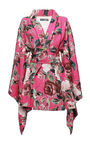 Dolce & Gabbana - Print floral brocade kimono coat