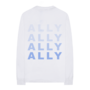 ASIB Merch Ally Blue Photo LS back