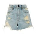 Alexander Wang - High waist distressed cut off shorts