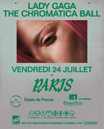 The Chromatica Ball Stade de France Poster 001