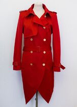 Yves Saint Laurent Double breasted redtrench coat