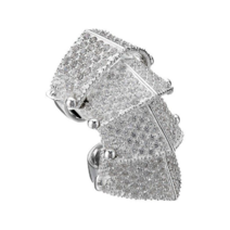 Vivienne Westwood - Sterling silver pavéd armor ring