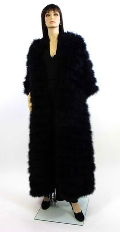 File:Claire Haddad - Ostrich Marabou Evening coat.jpg