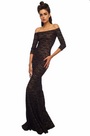 Off the Shoulder Lace Fishtail Gown