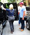 7-26-15 Leaving Joanne Trattoria Restaurant in NYC 002
