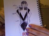 Lady Gaga's ''Poker Face'' suit sketch