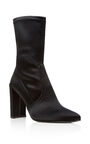 Stuart Weitzman - ''Clinger'' stretch satin ankle boot