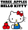 Three Apples Hello Kitty 35th Anniversary Celebration poster