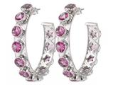 Adore Adorn - Crystal hoop earrings