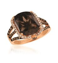 Le Vian - Chocolatier pomegranate garnet and diamond in 14k rose gold ring
