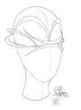 Irene Bussemaker Eyewear headpiece