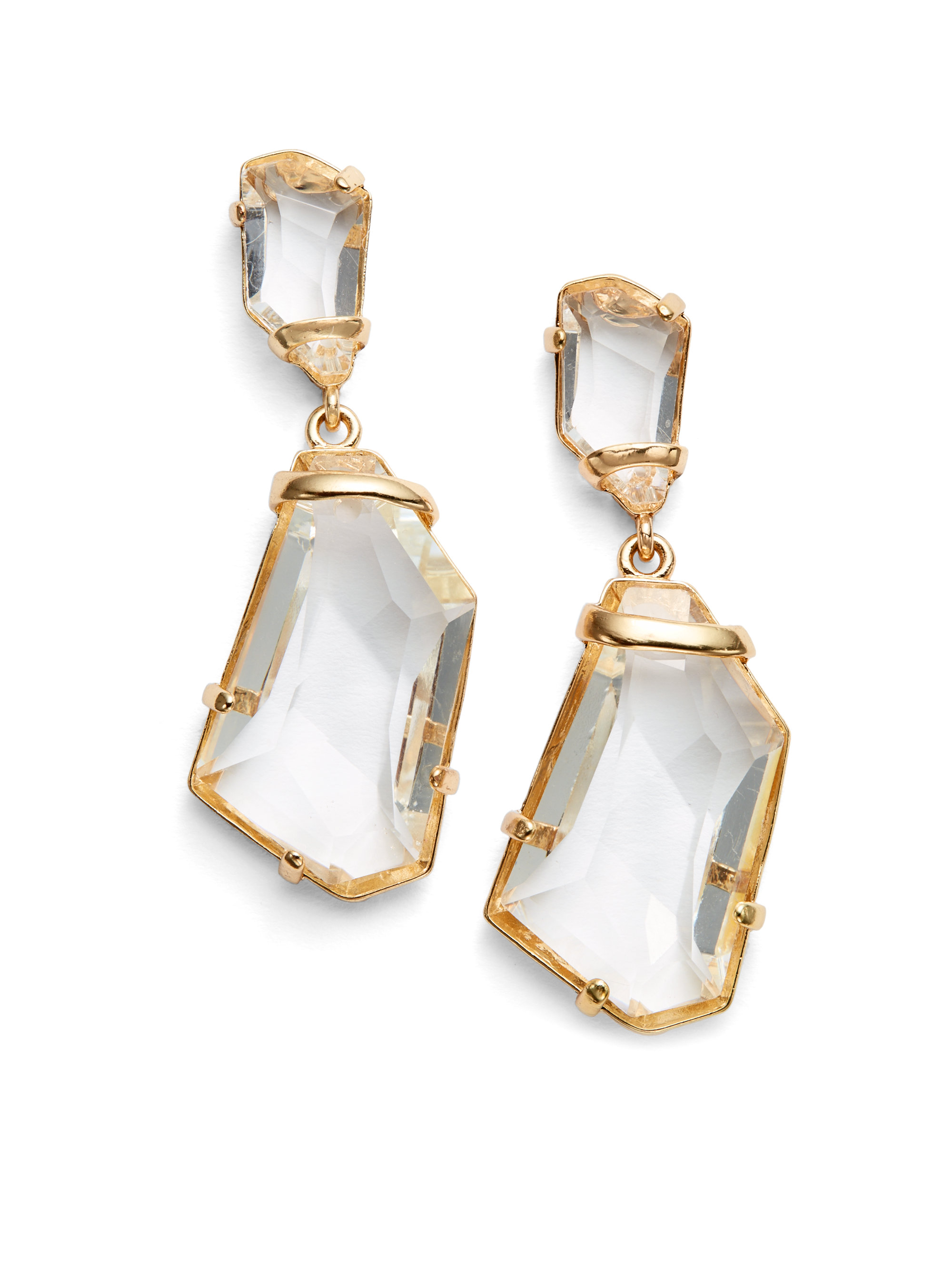 Kenneth Jay Lane Crystal Drop Earrings F7AgD